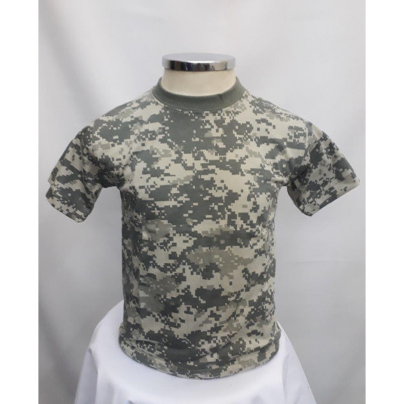 Camiseta Infantil Camuflado Universal ACU frente