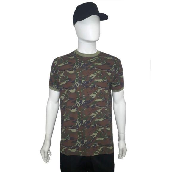 camiseta camuflado aeronautica manga curta frente