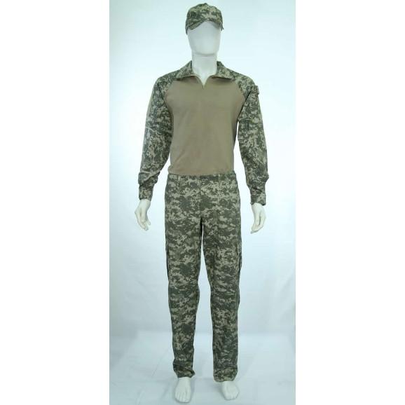 Farda Combat Shirt camuflado Universal ACU detalhe