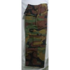 calça infantil camuflado verde