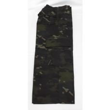 calça infantil camuflado multicam black