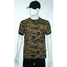 Camiseta Manga Curta Digital Marpat Woodland