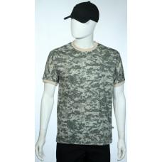 camiseta camuflado digital universal ACU manga curta lado