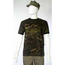 Camiseta Manga Curta Multicam Black