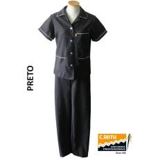 uniforme-de-copeira-preto-com-vivo